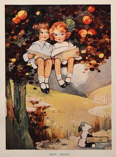 Vintage art nouveau C-1920 Original signed (Agnes Richardson) colour print | eBay