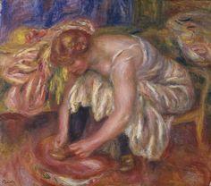 Woman Tying her Shoe -  Pierre Auguste Renoir - circa 1918
