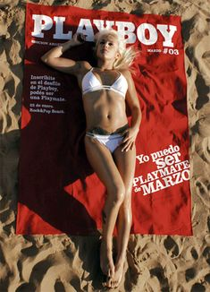 brand visibility of Playboy on beach