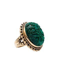 Stephen Dweck Bronze Malachite Ring