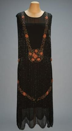 Art Deco beaded chiffon dress 1920's by proteamundi