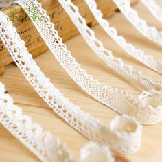 Knitted Cotton Lace Ribbon Beige Color,5 Yard/Piece,DIY Handmade,Wedding Party/Craft & Gift Packing/Child Dress/Decoration HB003