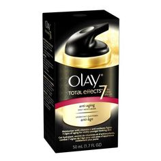 Olay Olay Total Effects Daily Moisturizer***Size: 1.7 Oz.7 anti aging benefits in 1 daily facial moisturizer,For the following skin types: Dry, Normal, Combination/Oily,Helps with these face concerns: Fine Lines/Wrinkles, Dull Skin, Brown Spots, Dry/Flaky Skin,You will love Total Effects 7X Visible Anti-Aging Vitamin Complex because it: minimizes the appearance of pores, eases appearance of fine lines and wrinkles.,Made in the USA,.