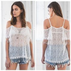 ✨1 Day Sale✨NWT Lace Tunic Cover Up Available in l. Perfect as a swim cover up or tunic top Boutique Tops