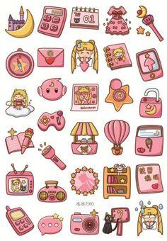 home Art Fun - Japan Anime Sailor Moon Pink Deco Seal Stickers Fun Life Home Deco Serious Journal Stickers, Scrapbook Stickers, Planner Stickers, Scrapbook Paper, Stickers Kawaii, Anime Stickers, Cool Stickers, Decorative Stickers, Sailor Moons