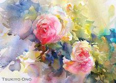 Tsukio Ono #watercolor jd