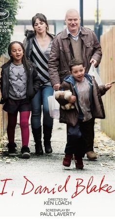 Directed by Ken Loach.  With Dave Johns, Hayley Squires, Sharon Percy, Briana Shann. A middle aged carpenter who requires state welfare after injuring himself, is joined by a single mother in a similar scenario.