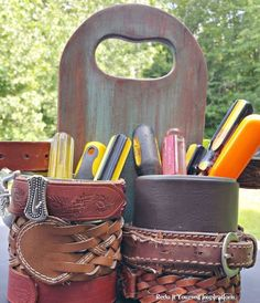 tin can tool caddy, crafts, home maintenance repairs, repurposing upcycling, tools, woodworking projects