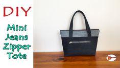 Bag Jeans, Diy Bags No Sew, Bag Sewing, Diy Bags Tutorial, Mini Bag, Pouch, Reusable Tote Bags, Zipper, Scrappy Quilts