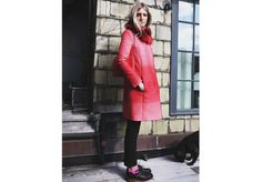 I love to get to work feeling powerful is a new outfit. #pennyblack #stylishcoat #pink #ny