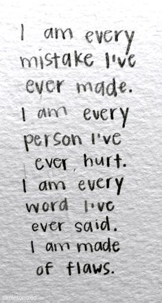 To those who were on the receiving end of my mistakes, to you I've hurt with my words or deeds, I apologize.