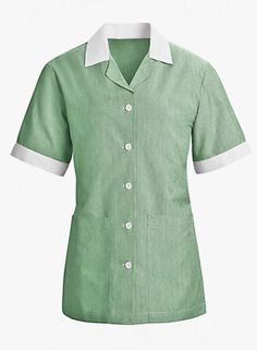 Women's Single Breasted Housekeeping Uniform Tunic