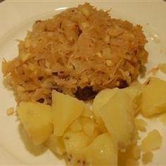 Côtes de porc et choucroute au four @ http://allrecipes.fr