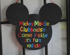 Mickey Mouse inspired door sign