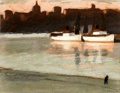 bofransson:  Nisse Zetterberg - Morning Sun, Two Boats