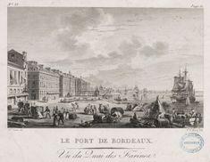 Le Port de Bordeaux, vu du quai des Farines, gravure sur cuivre d'après N. Ozanne, 29,5 x 44 cm, 1776 / Archives municipales de Bordeaux, Fi 40 B 70