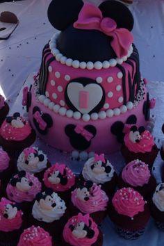 Cuppiecakes Minnie Mouse theme