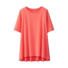 WOMEN Cotton Modal Long Short Sleeve T-UNIQLOUKOnlinefashionstore