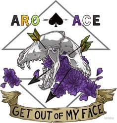'Aro+Ace - Get Out of My Face' Sticker by kiriska Ace Pride, Lgbt Memes, Flying Ace, Lgbt Love, Face Stickers, Cute Love, Spectrum, Saga, Equality