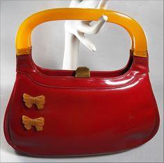 red bakelite purse