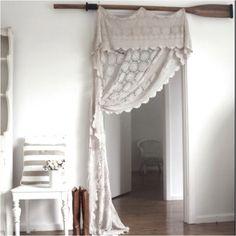 This would look very nice at the bedroom door to soften it. LOVE