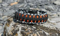4 color king cobra paracord | Urban-Camo-Orange-Black-King-Cobra-Paracord-Bracelet-for-Wounded ...