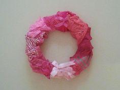 lingerie wreath for lingerie shower.  sweet and skanky.