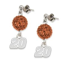 NASCAR Joey Logano LogoArt Ovation Earrings by Logo Art. $61.17. Give yourself the ovation you deserve for being so devoted to your team by wearing these LogoArt® Ovation earrings.  Your team's logo expertly crafted in solid sterling silver and richly plated in a rhodium finish, dangles from a sphere glistening with an array of pavé crystals that match your team's colors.  Ball post earrings with push backs.