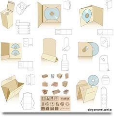 Free printable CD packaging shapes :-)