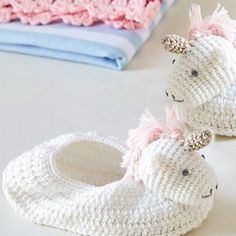 Crochet Unicorn Boot