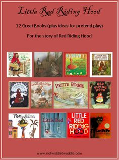 12 Great Red Riding Hood Books (plus activity ideas!) from No Twiddle Twaddle