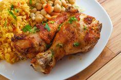 Portugál piri-piri csirke currys rizzsel: pikáns fogás egyszerűen - Recept   Femina Piri Piri, Food And Drink, Turkey, Chicken, Red Peppers, Turkey Country, Cubs
