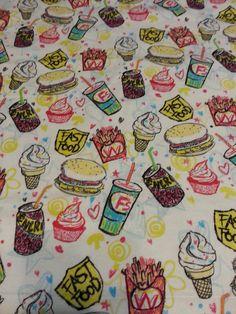 Fast Food Hambuger Frech fries ice cream soda by ArvillaRuby