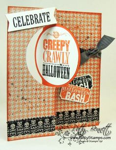 Halloween Bash Circle Thinlit Flip Card - Patty's Stamping Spot