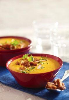 Nopea juuressose-kinkkukeitto | K-ruoka Thai Red Curry, Soup Recipes, Goodies, Easy Meals, Koti, Snacks, Dinner, Cooking, Ethnic Recipes