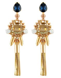 River Island Gold Tiered Chandelier Earrings   House of Beccaria ...