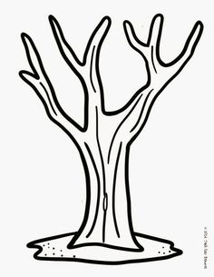 Printable Tree Coloring Pages New Teach Easy Resources Fall Tree Finger Painting and Free Autumn Crafts, Fall Crafts For Kids, Toddler Crafts, Fall Preschool Activities, Preschool Crafts, Art Activities, Preschool Classroom, Tree Templates, Templates Printable Free