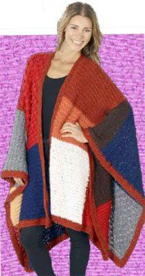 for knitted pieces already done? Crochet Coat, Knitted Poncho, Crochet Shawl, Crochet Clothes, Crochet Sweaters, Crochet Afghans, Fingerless Gloves Crochet Pattern, Crochet Slippers, Loom Knitting