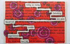 Blog - Pagina 4 van 13 - Boekselen  #alteredtext door Loes Vork. Boekselen is niet alleen een fijne hobby die iedereen kan en die je creativiteit op gang brengt, maar ook een manier om tot rust te komen en contact te maken met jezelf. Old Book Pages, Old Books, Blackout Poetry, Altered Books, Art Journals, Art Images, Zentangle, Blog, Poetry