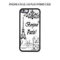 Vintage Eiffel Tower Postcard iPhone 6/6s PLUS HYBRID Case Cover