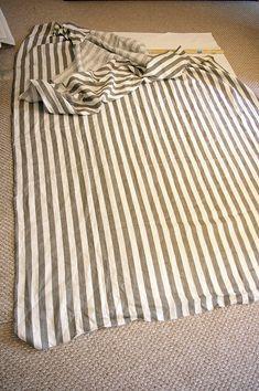 DIY Roman Shade - with store bought roman shade & add fabric