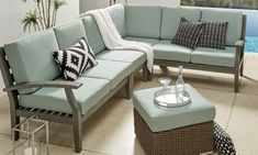 Multifunction Furniture for Small Spaces Furniture For Small Spaces How To Choose Patio Furniture For Small Spaces Overstock Compact Furniture, Small Patio Furniture, White Furniture, Living Room Furniture, Sofas For Small Spaces, Small Outdoor Spaces, Living Spaces, Metal Shelving Units, Tiny House Stairs