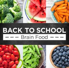 Looking to improve your children's focus and attention? Kick off a new school year by providing healthy lunch options. Lunch Saludable, Back To School Lunch Ideas, New School Year, Brain Food, Healthy Eating, Fruit, Children, Healthy Lunches, Sons