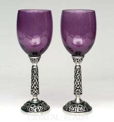 Amethyst Purple Celtic Wine Glass or Communion Cup – Puzzle Rings, Engagement Puzzle Rings, Posy Rings, Celtic Wedding Bands Communion Cups, Celtic Wedding Bands, Champagne Flutes, Toasting Flutes, Red Champagne, Witch Decor, Purple Wine, Red Glass, Vases