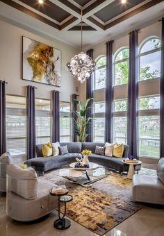 Classy Living Room, Blue Living Room Decor, New Living Room, Living Room Modern, My New Room, Interior Design Living Room, Living Room Designs, Gold Living Rooms, Feng Shui