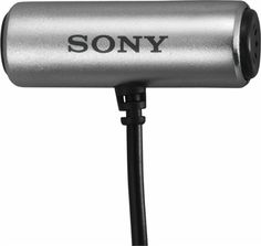 Sony - Omnidirectional Condenser Microphone - Silver - Front Zoom