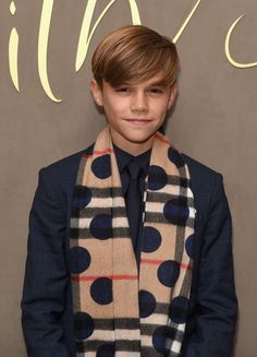 Pin for Later: The Youngest Beckham Boys Look All Grown Up on the Red Carpet With Victoria  Pictured: Romeo Beckham