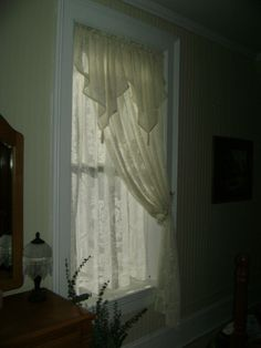 lace curtains  3 layers of lace, so cool!!!