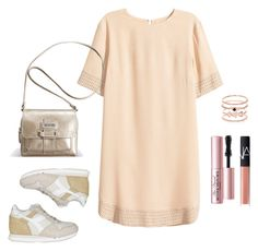 Look minimal casual by visionestilo on Polyvore featuring moda, H&M, Diadora, Avenue, Accessorize, Too Faced Cosmetics and NARS Cosmetics