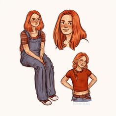She had dark red hair and her eyes - her eyes are just like mine, Harry thought, edging a little closer to the glass. Harry Potter Girl, Harry Potter Artwork, Harry Potter Drawings, Harry Potter Fandom, Harry Potter Characters, Ginny Weasley, Character Inspiration, Character Art, Character Design